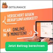 Getsurance Berufsunfähigkeitsversicherung